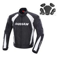 Wholesale Motorcycles Jackets Duhan - DUHAN 3M Reflective Men's Motorcycle Windproof Riding Jacket Women's Motocross Off-Road Racing Sports Jacket Clothing with Protector Guards