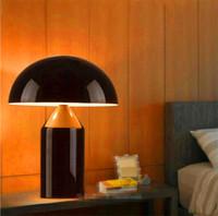Wholesale Wholesale Metal Table Lamps - Modern Oluce Mushroom Table Lamp Creative Designer Simple Desk Lamp Bedside New For Bedroom Study Room Living Room Home Decor