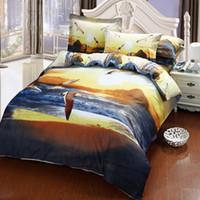 Wholesale tiger bedding king online - 3D designs cotton fabric bedding set queen king size reactive printing good fastness cartoon designs tiger leopard linon building
