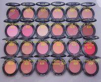 allık makyaj toptan satış-Makyaj Pırıltılı Allık Şeffaf Ton Allık 24 Farklı Renkler Hiçbir Aynalar Hiçbir Fırça 6g Mini sipariş 24 Adet