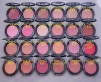maquiagem brilhante venda por atacado-Maquiagem Shimmer Blush Sheer Tone Blush 24 Cores Diferentes Sem Espelhos No Escova 6g Mini ordem 24 Pcs