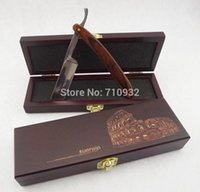 Wholesale knife box sets - FREE SHIPPING Sell RenRen Straight Razor Set Middle Wooden Box + Color Wood Stainless Steel Shaving Knife Barber