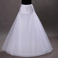 Wholesale Wedding Dress Underskirt Tulle - Free Shipping in Stock 1-hoop 2-layer Tulle Aline Petticoat Bridal Wedding Petticoat Underskirt Crinolines for Wedding Dress