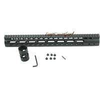 Wholesale Handguard Float - Funpowerland Black Float NSR 15 Inch Handguard One-piece Top Rail System KeyMod High Quality Lightest For AR-15 M4 M16