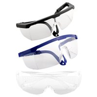 Wholesale Safety Goggles Free Shipping - Wholesale-New High Quality Portable Useful Safety Eye Protection Transparent Clear Goggles Glasses From Lab Dust Paint Free Shipping