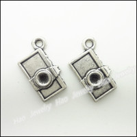 Wholesale Metal Charms Pendants Silver Camera - 160pcs Vintage Charms Camera Pendant Tibetan silver Zinc Alloy Fit Bracelet Necklace DIY Metal Jewelry Findings
