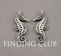 ingrosso cavallo di metallo antico-30 pezzi argento antico sea horse sea creatura pendente di fascino fai da te in metallo braccialetto collana risultati dei monili a734
