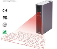 Wholesale mini laptop via for sale - Lowest Wireless laser keyboard with power bank mouse via bluetooth or Usb connection for tablet PC Ipad mini android tablet Laptop ios