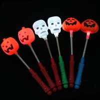 Calabaza de Halloween / cráneo LED Light Stick Flash resplandor PVC palos de fluorescencia con sacudir Primavera fiesta decoración SD486