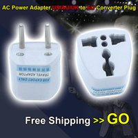 Wholesale European Power Adaptor Converter - Top Quality Free Shipping Universal AC Power Travel Charger Adapter US to EU AU UK Converter Plug Wall Socket European Adaptor Adaptador NEW