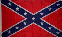 Due Bandiera Sides Stampato Confederate Rebel Civile Bandiera National War poliestere Rebel Flag Banner Flag Stampato