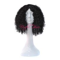 ingrosso stile di parrucca viziata-Parrucca riccia Bounce Scomfort Parrucca treccia afroamericana parrucche intrecciate afroamericane STILE CILIOSO KINKY OMBRE COLORE GRIGIO Parrucche sintetiche da 18 pollici per le donne nere