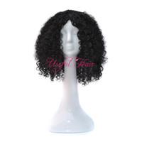 afrikalı amerikalı kadınlar perukları toptan satış-Sıçrama kıvırcık scomfort Mikro örgü peruk afro-amerikan örgülü peruk KINKY CURLY STIL OMBRE GRI RENK siyah kadınlar için 18 inç sentetik peruk