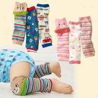 Wholesale Knee Padded Tights - Cute Cartoon Baby Leg warmers For Girls Knee Pad Kids Tights Toddler Socks children leg warmers free shipping in stock