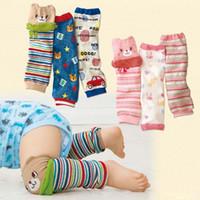Wholesale Cartoon Girl Legging Tights - Cute Cartoon Baby Leg warmers For Girls Knee Pad Kids Tights Toddler Socks children leg warmers free shipping in stock