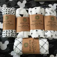 camas orgânicas venda por atacado-Cobertores das crianças Recém-nascidos Do Bebê Berçário Cama Crianças Swadding Macio Algodão Orgânico Árvore de Musselina Cross Swaddle Toalha De Banho Brethable Multi-uso