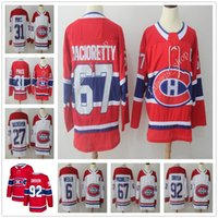 2018 New Season 67 Max Pacioretty Jersey Montreal Canadiens Red White 31 Carey Price 6 Shea Weber 92 Jonathan Drouin Alex Galchenyuk Jerseys