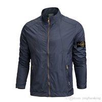 Wholesale Fast Wind Jacket - fast shipping 2015 new stone autumn mens thin island jacket bomber jacket and coat stone Wind jacket