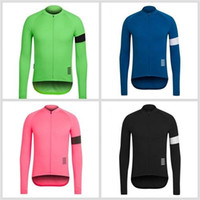 Wholesale Thermal Shirt Long Sleeves - Rapha Cycling Jerseys 2016 Long Sleeves Winter Cycling Shirts Thermal Fleece Bike Wear Comfortable Breathable Hot New Rapha Jerseys 4 Colors