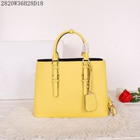 Wholesale brown crochet - Fashion Leather Totes Women good Leather handbags pure color casual shoulder bags NO 2820 size: W36 H28 D18 Quality Guranteed free shipping