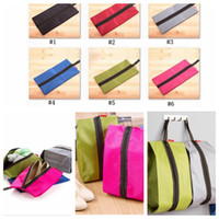 Wholesale Travel Storage Bags For Shoes - Portable Storage Shoe Bag Multifunction Travel Tote Storage Case Organizer for Shoes 37*19 cm 100 pcs YYA775