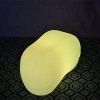 açık renkli çok renkli ışıklar toptan satış-Açık / kapalı Led Işık su geçirmez renkli pil şezlong Mobilya şarj edilebilir uzaktan kumanda ile çakıl bar taburesi ışıkları