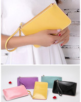Wholesale Wholesale Leather Envelope Clutch - High Quality Women PU Leather Wallet Ladies Clutch Bag Candy Color 2016 Bag Fashion Handbags Purse Gift