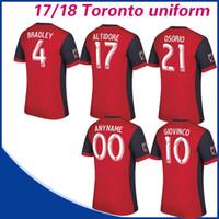 Wholesale Canada Football Jersey - Canada Toronto FC home Soccer Jersey 17 18 BRADLEY GIOVINCO OSORIO ALTIDORE football shirt Toronto FC Short sleeved uniform
