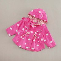 Wholesale Toddlers Trench Coats - Girls Tops Kids Trench Coats Korean Girl Dress Kids Hoodies Baby Coats 2016 Spring Autumn Coat Child Clothes Toddler Clothing Ciao C22702