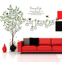 Wholesale Best Bedroom Decor - Best PromotionTree Bird Photos Frame Removable Vinyl Art Wall Sticker Decal Mural Home Decor
