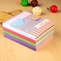 Wholesale Cute Notebook Diary - 12pcs lot Cute Kawaii Cartoon love heart Journal Notebook Diary Planner Notepad for Kids Gift Korean Stationery Free shipping