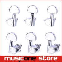 Wholesale Tune Acoustic Guitar - Chrome 3L3R Grover Style Guitar String Tuning Pegs Keys Tuners Machine Heads Acoustic Electric Guitar MU0618