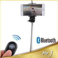 ausziehbare monopod funkfernbedienung großhandel-Großhandels-Neuer Ausziehbare Handselbstauslöser Selfie-Stange Einbeinstativ pau de Selbst + Wireless Bluetooth Auslöser Fernbedienung für iphone Samsung