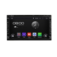 Wholesale Double Screen Mobile - NEW Klyde 6.95 inch universal Double 2 Din Android 4.4 Car DVD GPS 3G Wifi Bluetooth OBD Radio Stereo CD Player