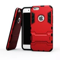 Wholesale galaxy s5 kickstand cover for sale - Group buy Hybrid KickStand Anti Shock Defender Armor Case TPU PC cover For iphone X XS XR XS MAX s S plus Galaxy S5 S6 S6 EDGE S7
