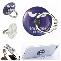 Wholesale Holder For Picture - Fashion Pop Stand Cute Cartoon Pictured Design Circle Finger Ring 3M holder for Iphone Universal Phone Pad Tablets 100pcs