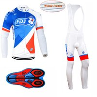 Wholesale Team Fdj - 2017 NEW team FDJ KTM fleece winter Cycling clothing long sleeve cycling jersey sets MTB bike jersey maillot ciclismo