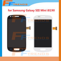 Wholesale Digitizer Galaxy Mini - LCD Touch Screen & Digitizer Assembly for Samsung Galaxy S3 Mini SIII Mini i8190 Blue White High Quality Free Ship