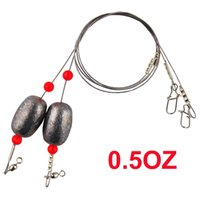 Wholesale Fishing Weights Wholesale - 4Packs Fishing Sinkers Weights Fishing Egg Sinker Rigs with Fishing Swivels and Snap for Trout, Flounder and Bottom Fish