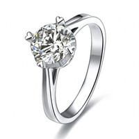 14k gold simulierte diamantringe großhandel-