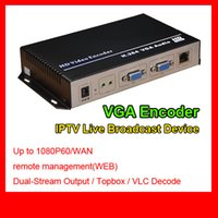 Wholesale H 264 Capture Card - MPEG-4 AVC H.264 VGA Audio HD Video Encoder Hotel iptv solution rtmp encoder single channel h.264 vga iptv encoder HD Video Capture Card