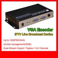 hd iptv kanalları toptan satış-MPEG-4 AVC / H.264 VGA Ses HD Video Kodlayıcı Otel iptv çözüm rtmp kodlayıcı tek kanal h.264 vga iptv encoder HD Video Yakalama Kartı