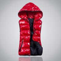 Wholesale Womens Plus Size Down Vests - Wholesale-Plus Size XL-4XL New Fashion Winter Vest Down Women Coats Cotton Hooded Warm Sport Casual Womens Vests 7 Colors Outwear Hot 1664