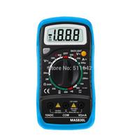 Wholesale Portable Multimeter - Bside Blue MAS830L Portable Digital Multimeter With Backlight Data Hold Transistor Tester
