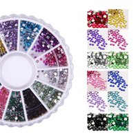 Wholesale Ongles 3d - Wholesale-One Box of Nail Art Decoration DIY Rhinestones 3D Nail Art Strass Glitter Bijoux Tips pour Ongles Conseils Decoration Manucure