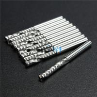 outils de bits de routeur achat en gros de-10 PCS / SET 3.175mm 22mm Simple Flûte Spirale Carbure CNC Routeur Bits Fraise Outils Nouveau