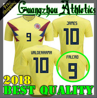 Soccer Men Short 2018 World Cup Colombia home yellow soccer jersey 17 18 Home  FALCAO JAMES c7532a93e