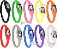 Wholesale Silica Gel Candy - 500pcs Negative ion watch silica gel sports watch led silica gel child watch candy color HOT! SB-03