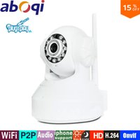 Wholesale Hd Ip Systems - Aboqi IP Camera WiFi 720P Wireless Camara Video Surveillance HD Vision Mini indoor Security Camera CCTV System mini camera