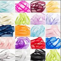 Wholesale Organza Ribbon Satin Edge - 18%OFF 250 yards SATIN EDGE ORGANZA RIBBON 25mm various colours